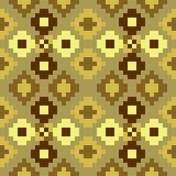 Pattern pixel art seamless yellow brown Royalty Free Stock Images