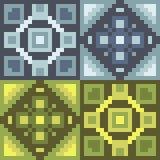 Pattern pixel art silver gold. Vector pattern illustration pixel art silver gold Royalty Free Illustration