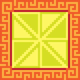 Pattern pixel art square yellow. Vector pattern illustration pixel art square yellow royalty free illustration