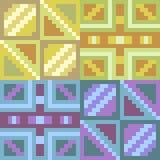 Pattern pixel art yellow blue. Vector pattern illustration pixel art yellow blue Stock Illustration