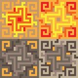 Pattern pixel art yellow brown. Vector pattern illustration pixel art yellow brown Royalty Free Illustration