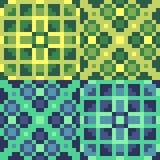 Pattern pixel art yellow green. Vector pattern illustration pixel art yellow green Vector Illustration