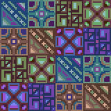 Pattern pixel texture blue green brown Royalty Free Stock Photography