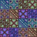 Pattern pixel texture blue green brown. Illustration vector texture pattern seamless pixel art Stock Illustration