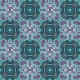 Pattern pixel texture blue green. Illustration vector texture pattern seamless pixel art Royalty Free Illustration