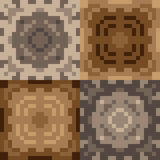 Pattern pixel texture brown Stock Images