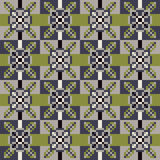 Pattern pixel texture green gray. Illustration vector texture pattern seamless pixel art Vector Illustration