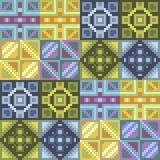 Pattern pixel texture silver gold. Illustration vector texture pattern seamless pixel art Vector Illustration