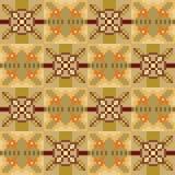 Pattern pixel texture yellow brown Stock Photo