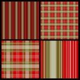 pattern plaid seamless set Arkivbild
