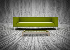 Pattern of plank wood floor and sofa set Stock Photo