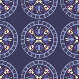 Pattern plate. Seamless ornament pattern round traditional Stock Illustration