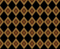 Pattern 2. A play of geometries in golden squares and black background, typically Venetian Royalty Free Stock Image