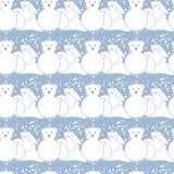 Pattern, polar bears, winter Royalty Free Stock Photo