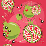 Pattern of pomegranate Royalty Free Stock Photo
