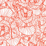 Pattern with Poppies Royalty Free Stock Photography