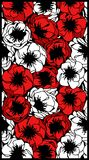 Pattern of poppy flowers. Red and white flowers.Can be used as background, wallpaper, printed textiles Royalty Free Stock Photos