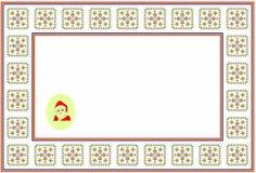 Pattern, popular motif, regular motif, tablecloth, picture Stock Images