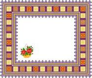 Pattern, popular motif, regular motif, tablecloth, picture Royalty Free Stock Photography