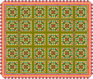 Pattern, popular motif, regular motif, tablecloth, picture Stock Image