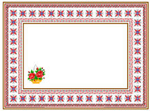Pattern, popular motif, regular motif, tablecloth, picture. Regular popular motifs. Can be used as carpet or tablecloth or a background for events Stock Image