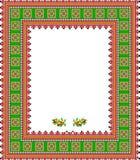 Pattern, popular motif, regular motif, tablecloth, picture Stock Image