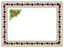Pattern, popular motifs. Regular popular motifs from Transilvania (Romania) signifying autumn, grape and vineyard Stock Image