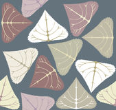 Pattern with populus  leaves Royalty Free Stock Image