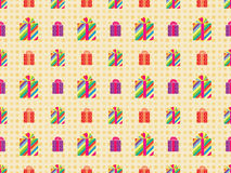 Pattern with presents Stock Image