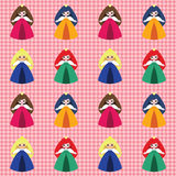 Pattern with princesses Royalty Free Stock Images