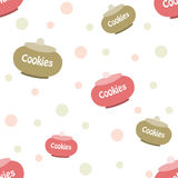 Pattern for print cookies Royalty Free Stock Image