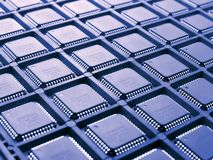 Pattern of processors stock images