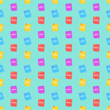 A pattern from programming languages. Colorful books. Colorful background for your projects. Php, html, java, css. Vector illustra. Tion in a flat style. EPS 8 Stock Photography