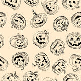 Pattern with a pumpkins Stock Images