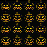 Pattern with pumpkins for Halloween Stock Photography
