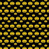 Halloween pattern. Vector illustration. Pattern with pumpkins. Halloween. Vector illustration on a black background royalty free illustration