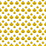 Halloween pattern. Vector illustration. Pattern with pumpkins. Halloween. Vector illustration on a white background stock illustration