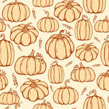 Pattern of pumpkins Royalty Free Stock Images