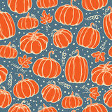 Pattern of pumpkins Stock Photography