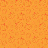 Pattern with pumpkins. Vector seamless pattern with pumpkins, perfect for Thanksgiving and Halloween Royalty Free Stock Photo