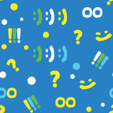 Pattern with punctuation marks and smileys Royalty Free Stock Images