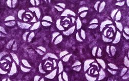 Pattern of purple flower for background and design art work stock image