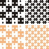 Pattern with puzzle Royalty Free Stock Photos
