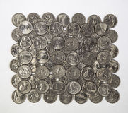 Pattern of Quarters Stock Images