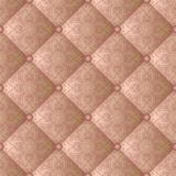 Pattern. Quilted fabric with vintage ornament, seamless pattern Stock Photography
