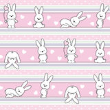 pattern with rabbit Stock Images