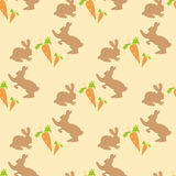Pattern of rabbits and carrots. Stock Photography
