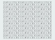 Pattern of radio elements Stock Photos
