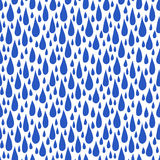 Pattern with rain drops in royal blue Stock Photo