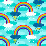 The pattern of rain, snow and the rainbow. Royalty Free Stock Photo